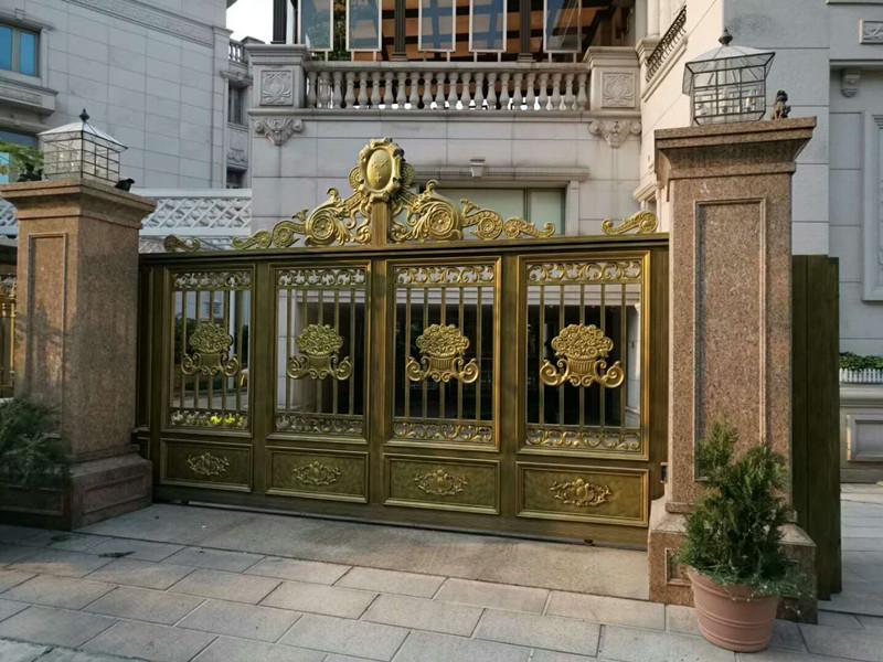 铝大门厂家pi发庭院门别墅门对开门