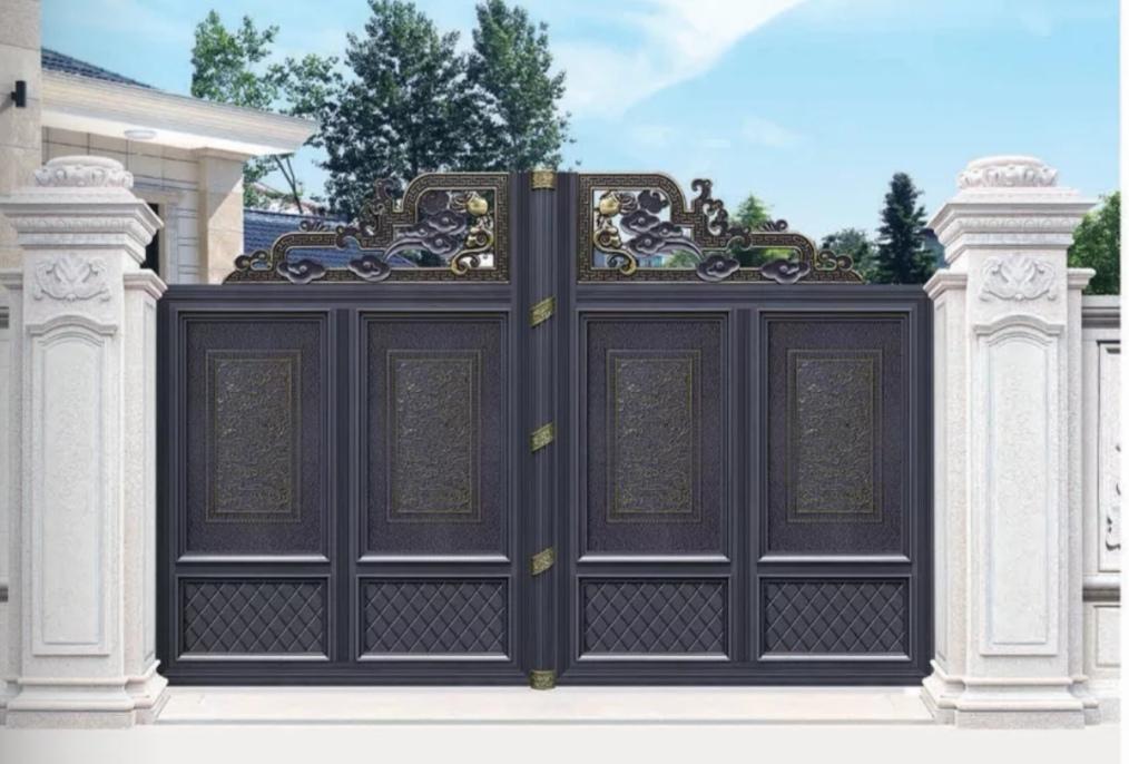 西安石家庄悬浮门折叠门平移门铝艺大门厂家批发直销