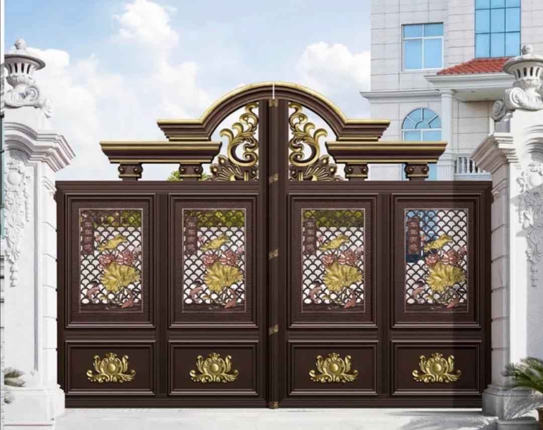 西安石家庄铝艺大门悬浮门折叠门平移门厂家批发直销